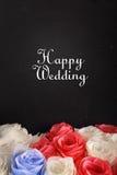 Szczęśliwy ślubny karciany projekt Zdjęcia Stock