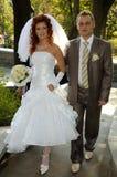 szczęśliwy ślubnych Fotografia Stock