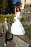 szczęśliwy ślubnych Obrazy Royalty Free