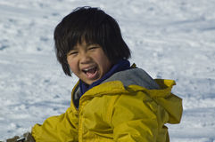 szczęśliwy śnieg Zdjęcie Royalty Free