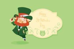 Szczęśliwy świętego Patrick dnia gratters Leprechaun Zdjęcia Royalty Free
