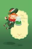 Szczęśliwy świętego Patrick dnia gratters Leprechaun Obrazy Royalty Free