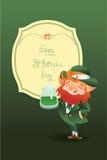 Szczęśliwy świętego Patrick dnia gratters Leprechaun Fotografia Royalty Free