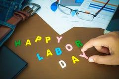 Szczęśliwy święto pracy biznesu pojęcie Obraz Stock