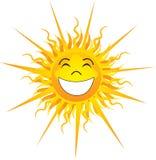 Szczęśliwy światło słoneczne Odizolowywający Fotografia Royalty Free