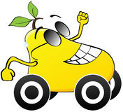 Szczęśliwy żółty bonkreta bieg Fotografia Stock