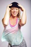 Szczęśliwy żeński tancerz Obraz Royalty Free