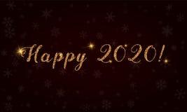 Szczęśliwy 2020! Obrazy Royalty Free