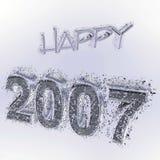 szczęśliwy 2007 ilustracja wektor