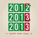 Szczęśliwy 2013 nowego roku machinalny rozkład zajęć obliczenia sty Fotografia Royalty Free