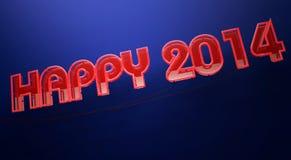 Szczęśliwy 2014 Obrazy Stock
