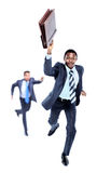 Szczęśliwy afroamerican bieg Obraz Stock