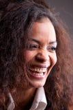Szczęśliwy afroamerican dziewczyny śmiać się Obraz Royalty Free