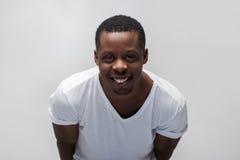 Szczęśliwy afroamerican facet radość i szczęście pełno Zdjęcia Stock