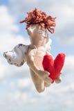 szczęśliwy anioła latanie Zdjęcia Stock