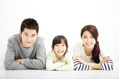 Szczęśliwy Atrakcyjny Młody Rodzinny portret zdjęcia stock