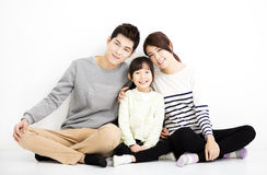 Szczęśliwy Atrakcyjny Młody Rodzinny portret zdjęcia royalty free