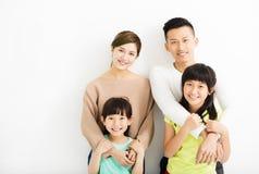 Szczęśliwy Atrakcyjny Młody Rodzinny portret obraz stock