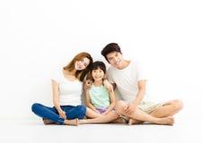 Szczęśliwy Atrakcyjny Młody Rodzinny portret obrazy royalty free
