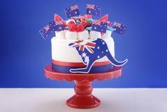 Szczęśliwy Australia dnia świętowania tort Obrazy Royalty Free