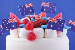 Szczęśliwy Australia dnia świętowania tort Zdjęcie Royalty Free