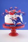 Szczęśliwy Australia dnia świętowania tort Zdjęcia Royalty Free
