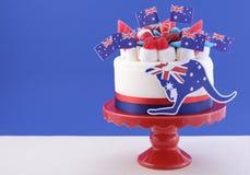 Szczęśliwy Australia dnia świętowania tort Obraz Stock