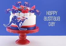Szczęśliwy Australia dnia świętowania tort Zdjęcia Stock