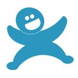 szczęśliwy błękitny facet Zdjęcia Royalty Free