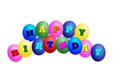 szczęśliwy ballons urodziny Zdjęcia Stock