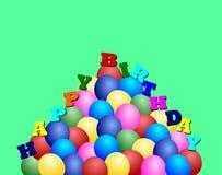 szczęśliwy ballons urodziny Obraz Royalty Free