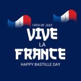 Szczęśliwy Bastille dzień 14th Lipiec ilustracji
