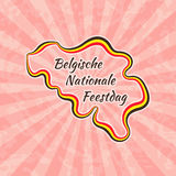 Szczęśliwy Belgijski święto państwowe royalty ilustracja