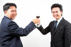 Szczęśliwy biznesmenów świętować zdjęcia royalty free