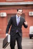 Szczęśliwy biznesmen obraz royalty free