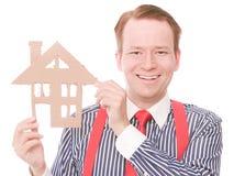 Szczęśliwy biznesowy houseowner zdjęcie royalty free