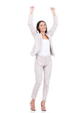 szczęśliwy bizneswoman Fotografia Royalty Free