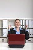 szczęśliwy bizneswoman Obraz Royalty Free