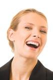 szczęśliwy bizneswomanu śmiać fotografia stock