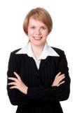 szczęśliwy bizneswomanu się uśmiecha Zdjęcia Stock