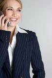 szczęśliwy bizneswomanu telefon Fotografia Stock