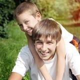 Szczęśliwy brata portret Zdjęcia Stock