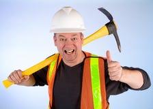 szczęśliwy budowa pracownik obraz stock