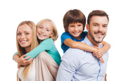 Szczęśliwy być rodziną Fotografia Stock