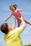 szczęśliwy córka ojciec jego mały Fotografia Stock