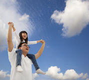 szczęśliwy córka ojciec wpólnie Obraz Royalty Free