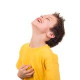 Szczęśliwy chłopiec portret na bielu Obraz Royalty Free
