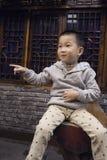 Szczęśliwy chłopiec punkt Obrazy Royalty Free