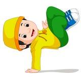 Szczęśliwy chłopiec taniec Obraz Stock