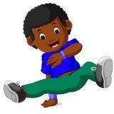 Szczęśliwy chłopiec taniec Obraz Royalty Free